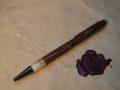 bocote pen with deer antler tip